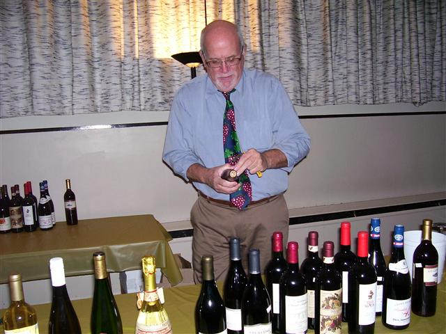 Sommelier Bill Warren uncorks wine and wisdom at a BT 2012 winetasting.