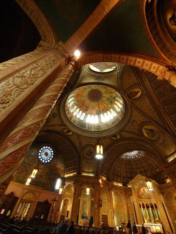 "This interior photo of Blessed Trinity by Ray Ordinario of Ft. Erie, Ontario was awarded Honorable Mention in the 2008 Doors Open Photography Contest. Dr, Ordinario donated a framed copy of his photo to Blessed Trinity, and it was awarded as a prize at a fundraiser for the church's ""Under This Roof"" preservation fund."