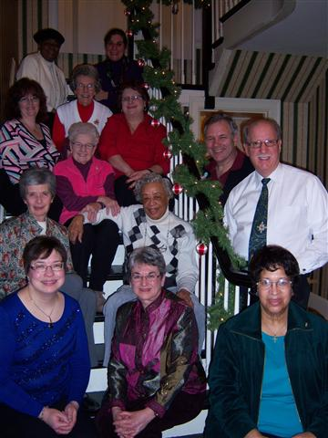 Choir members celebrated the Twelfth Day of Christmas at a house party hosted by Don and Bonnie Williams.