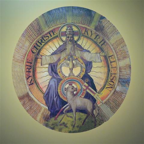 Symbol of the Trinity in the church's Great Dome. Photographic rendering by Todd Treat.