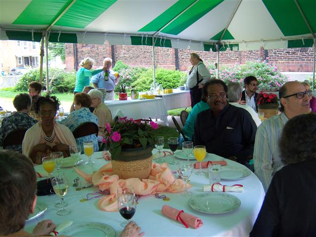 Bingo workers enjoy a buffet luncheon in their honor on Sunday, June 30.