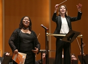 Soloist Karen Saxon performing with the Buffalo Philharmonic Orchestra during Martin Luther King, Jr. celebration on Jan. 19, 2014. Photo credit: Robert Kirkham/Buffalo News
