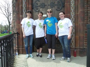 UB volunteers, l. to r.: Catherine Chen, Elina Nova, Baylee Richards and Kailey Mahar.
