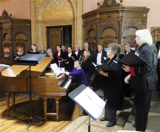 "The Freudig Singers of WNY with another serving of ""Christmas Pie."""