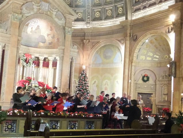 The choirs of Blessed Trinity and Our Lady of Pompeii in concert at Blessed Trinity, Jan. 11, 2015.