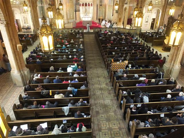 Annual Diocesan Mass honoring Dr. Martin Luther King at Blessed Trinity. Photo credit: Margaret Dick