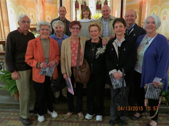 Members of the Bible Study Group from St. John the Baptist in Kenmore, NY had perfect spring weather for their April 13th tour of Blessed Trinity.