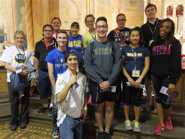 Delegates to the National Jesuit Student Leadership Conference in Buffalo who donated their time and energy on June 27.