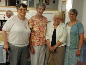 Women from Blessed Trinity enjoy hospitality of  the Sisters of St. Mary Namur following Mary  of Magdala Celebration.