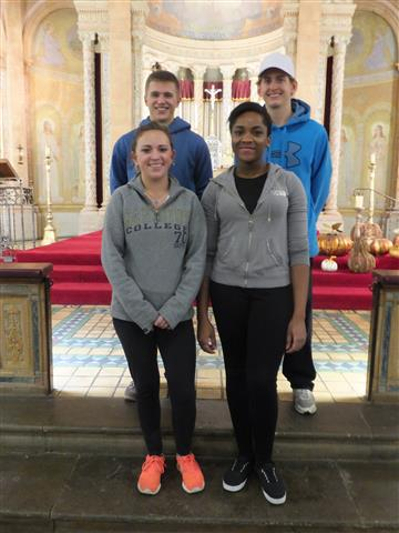 Canisius students, l. to r. (front) Peyton Richmond, Lota Ofodile; (rear) Luke Topolski , Michael Panzarella.