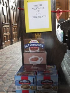 There's plenty of room remaining for your donation of cocoa for Sr. Karen Klimczak's Christmas Prison Project.