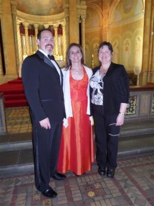 Robert Zimmerman and Amy Grable with Lori Abbott. Photo credit: Margaret Dick