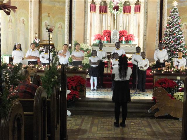 "St. Martin de Porres Children's Choir perform at ""Christmas in the City."""