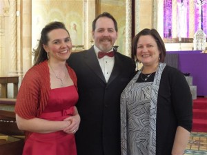 Soprano Amy Grable, tenor Robert Zimmerman, and pianist Dr. Lori Abbott following their Valentine's Day performance. Click HERE for additional photos from the concert.