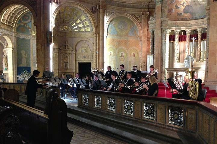 The Buffalo Brass Choir, directed by Nick DelBello, in concert at Blessed Trinity on April 22, 2016. Photo Credit: Margaret Dick