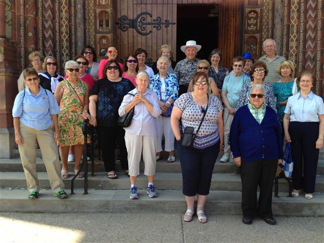 We welcomed parishioners and friends from Our Mother of Good Counsel in Blasdell, NY for a guided tour of the church on July 19, 2016.