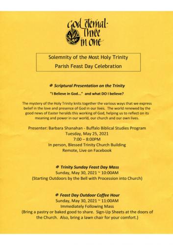 Trinity Sunday Events